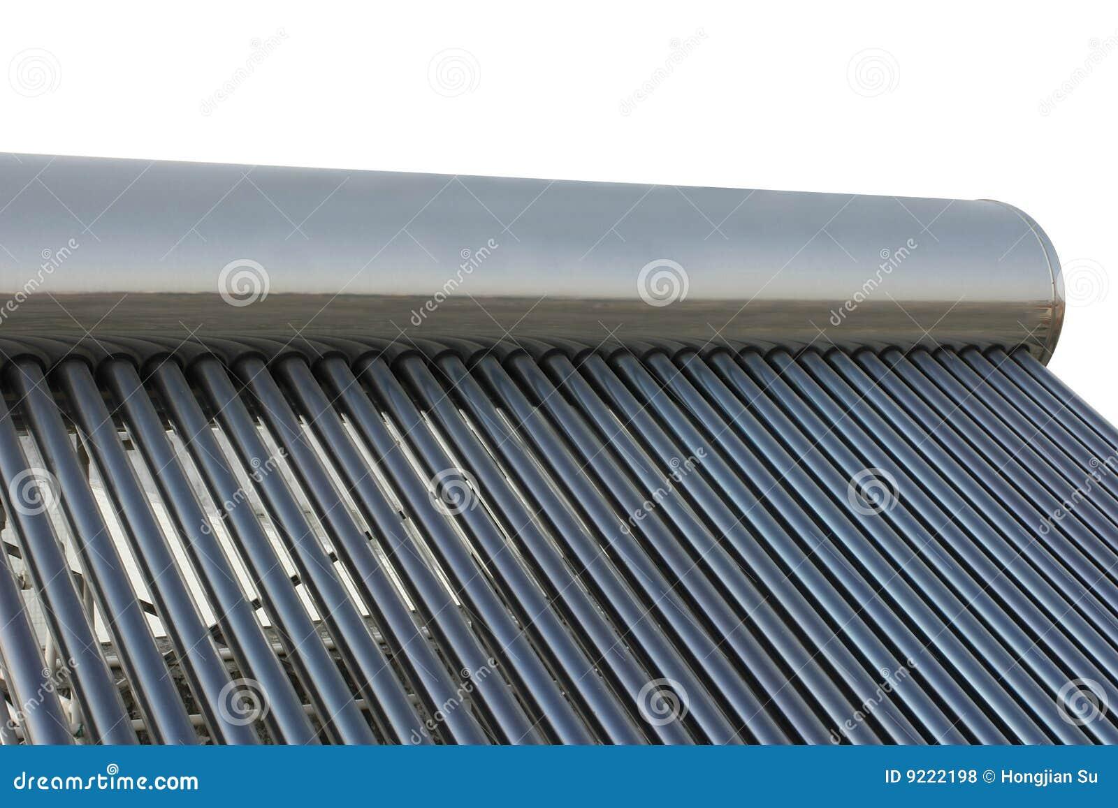 Solar Power Energy Water Heater Stock Photo Image Of