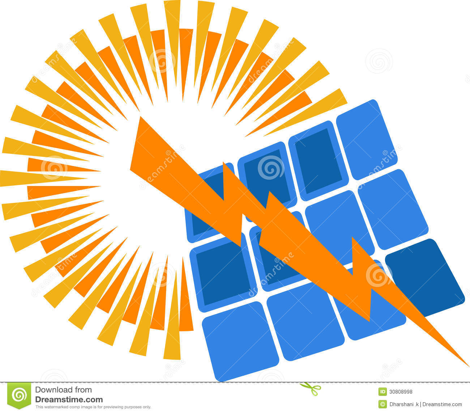 solar power logo royalty free stock photos image 30808998
