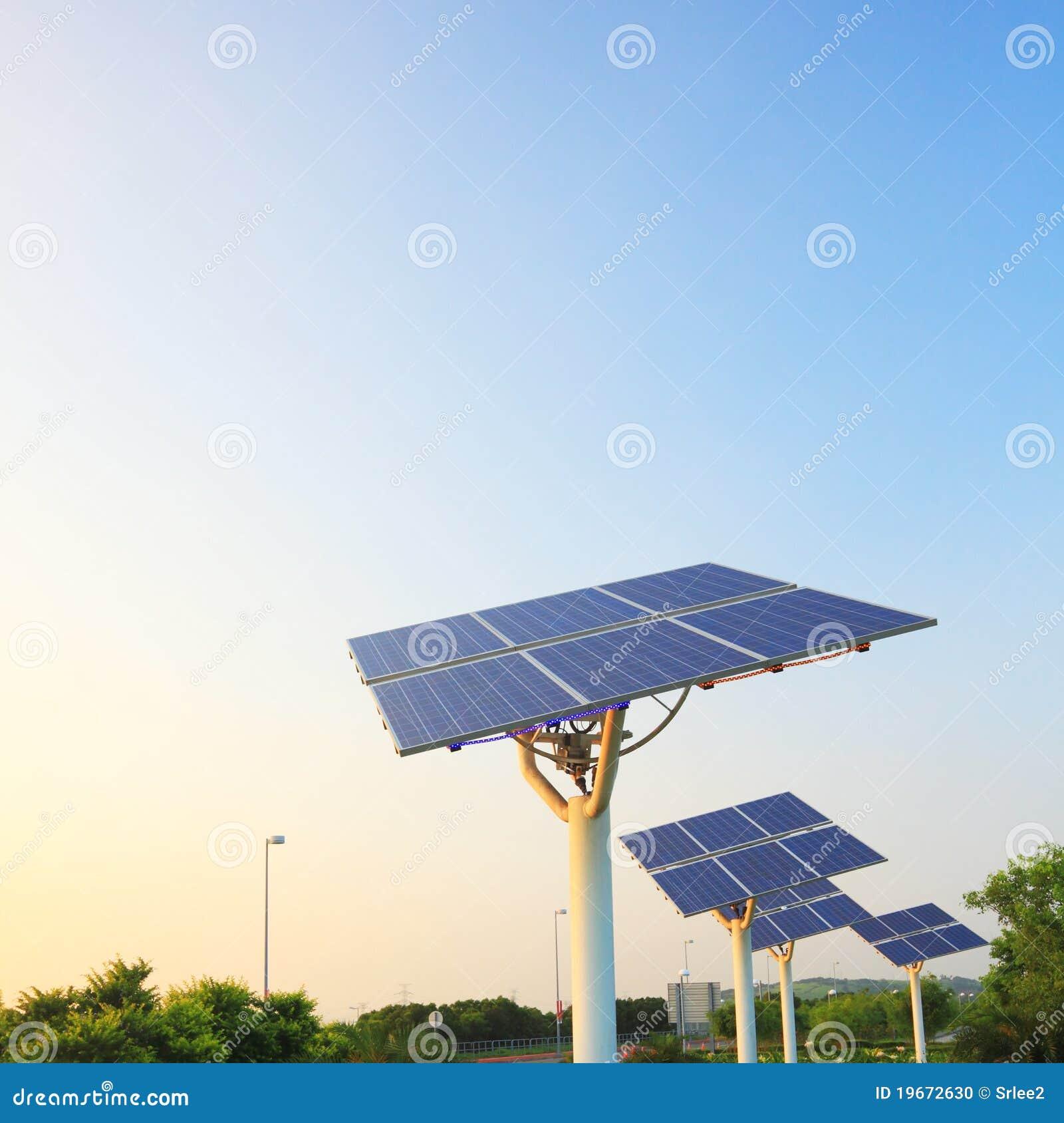 Solar Power Panel Array Stock Photo Image 19672630