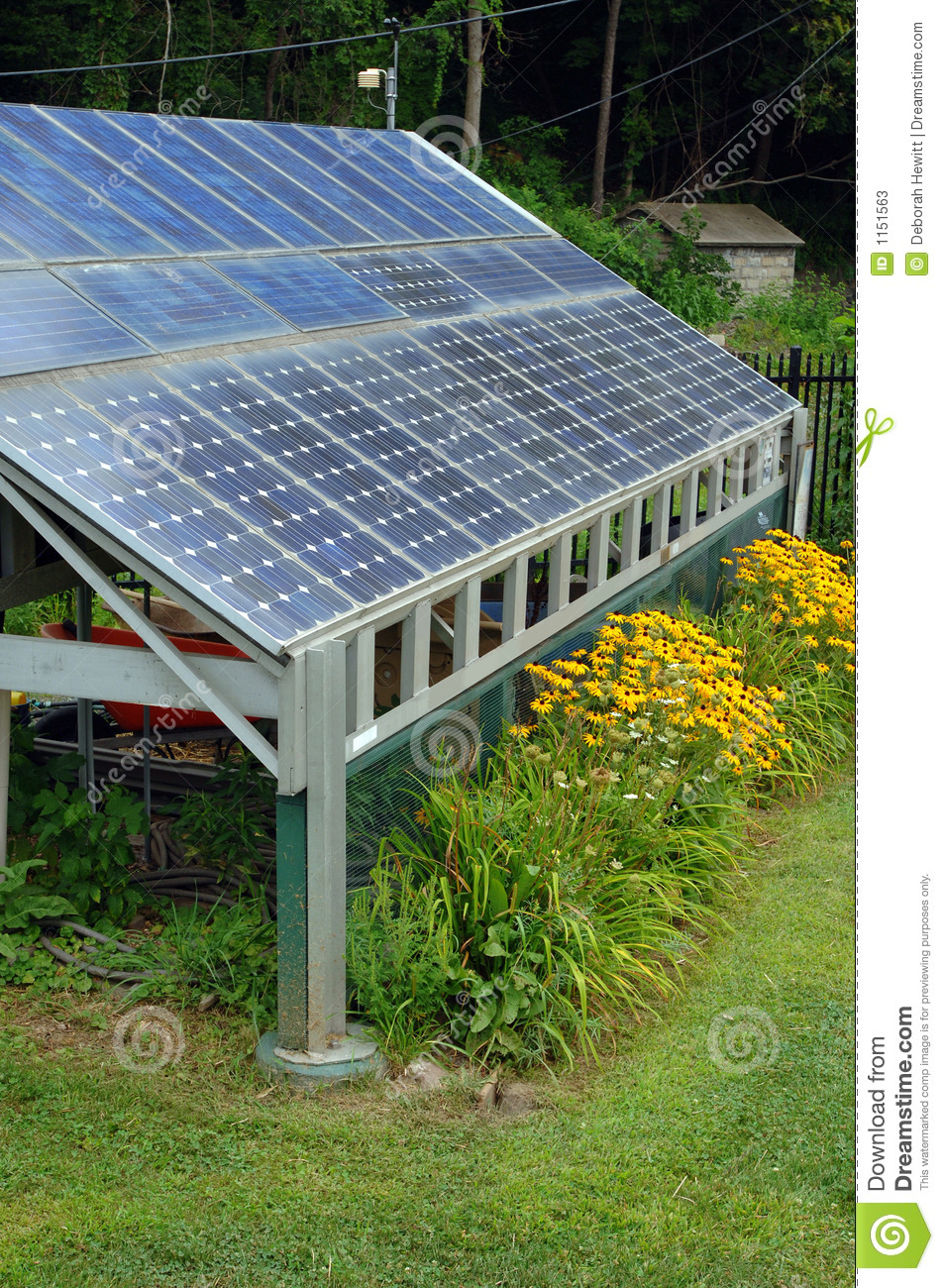 Solar Power Shed Stock Image Image Of Solar Environment