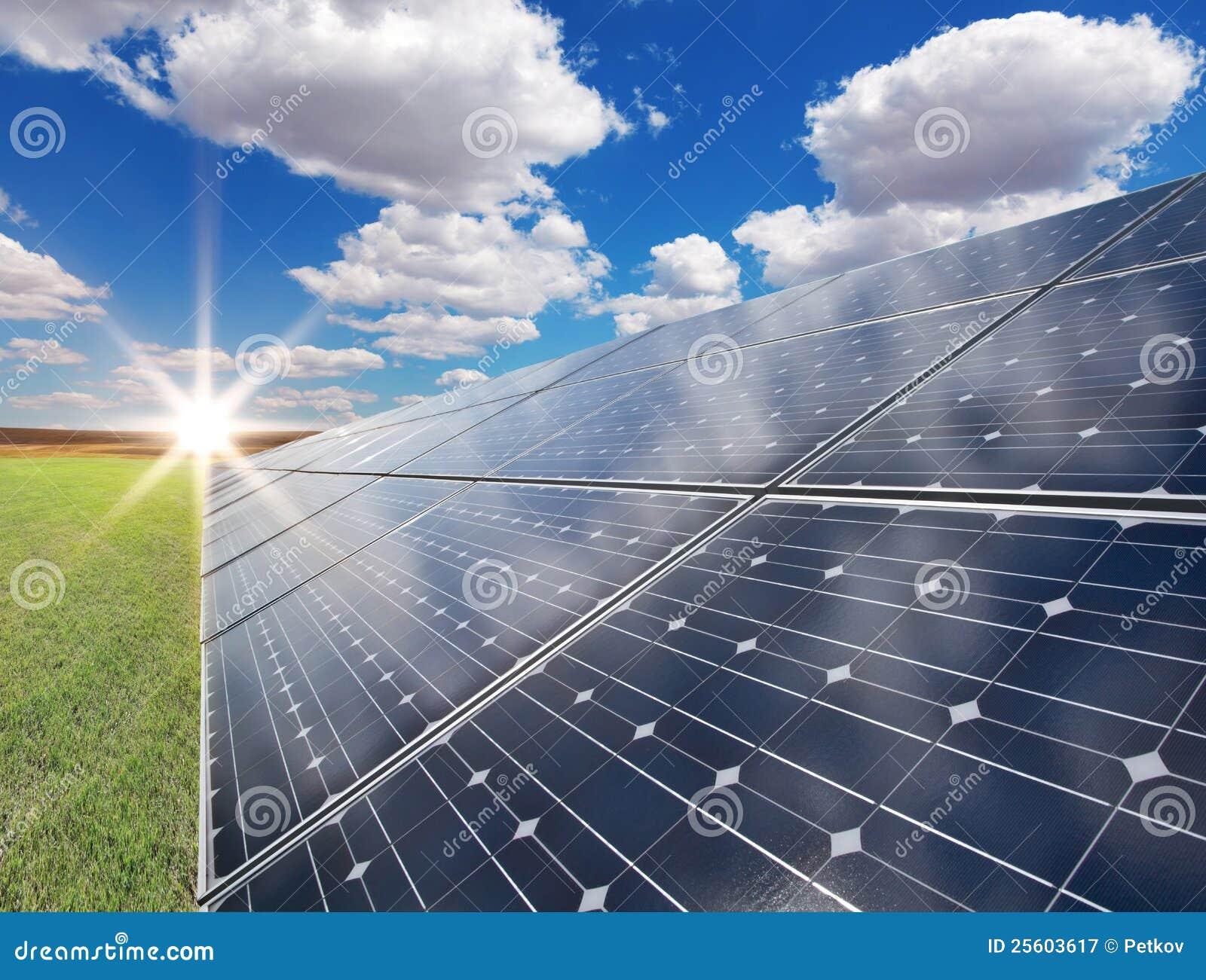 Solar Power Station Photovoltaics Royalty Free Stock