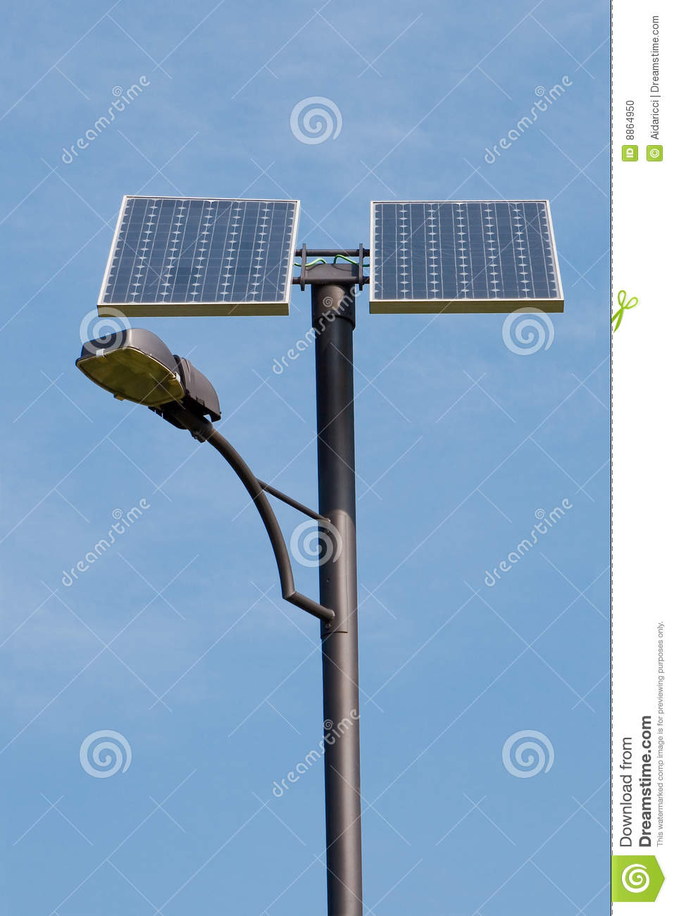 Solar Powered Lamp Post Stock Photo Image 8864950