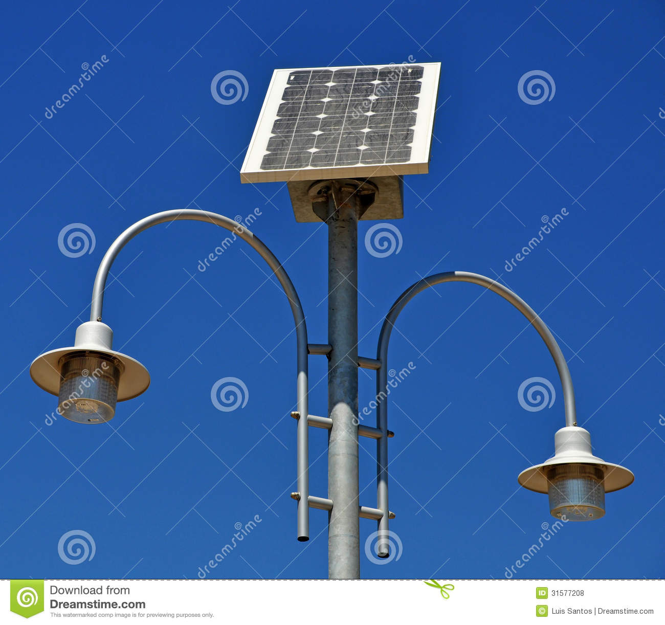 Solar Powered Lamp Post Royalty Free Stock Photos - Image: 31577208