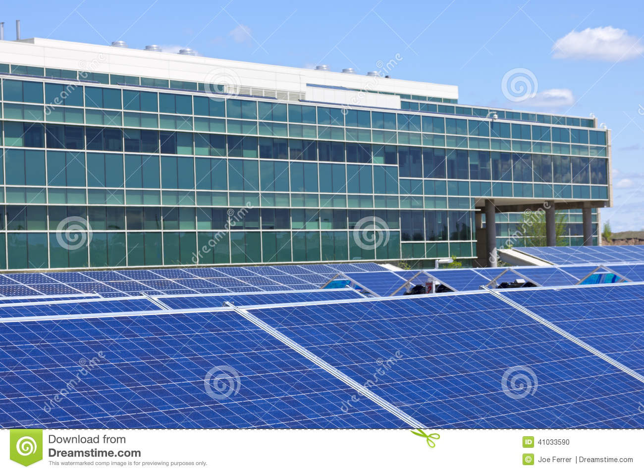 Solar Powered Office Buildings : Solar powered office stock photo image