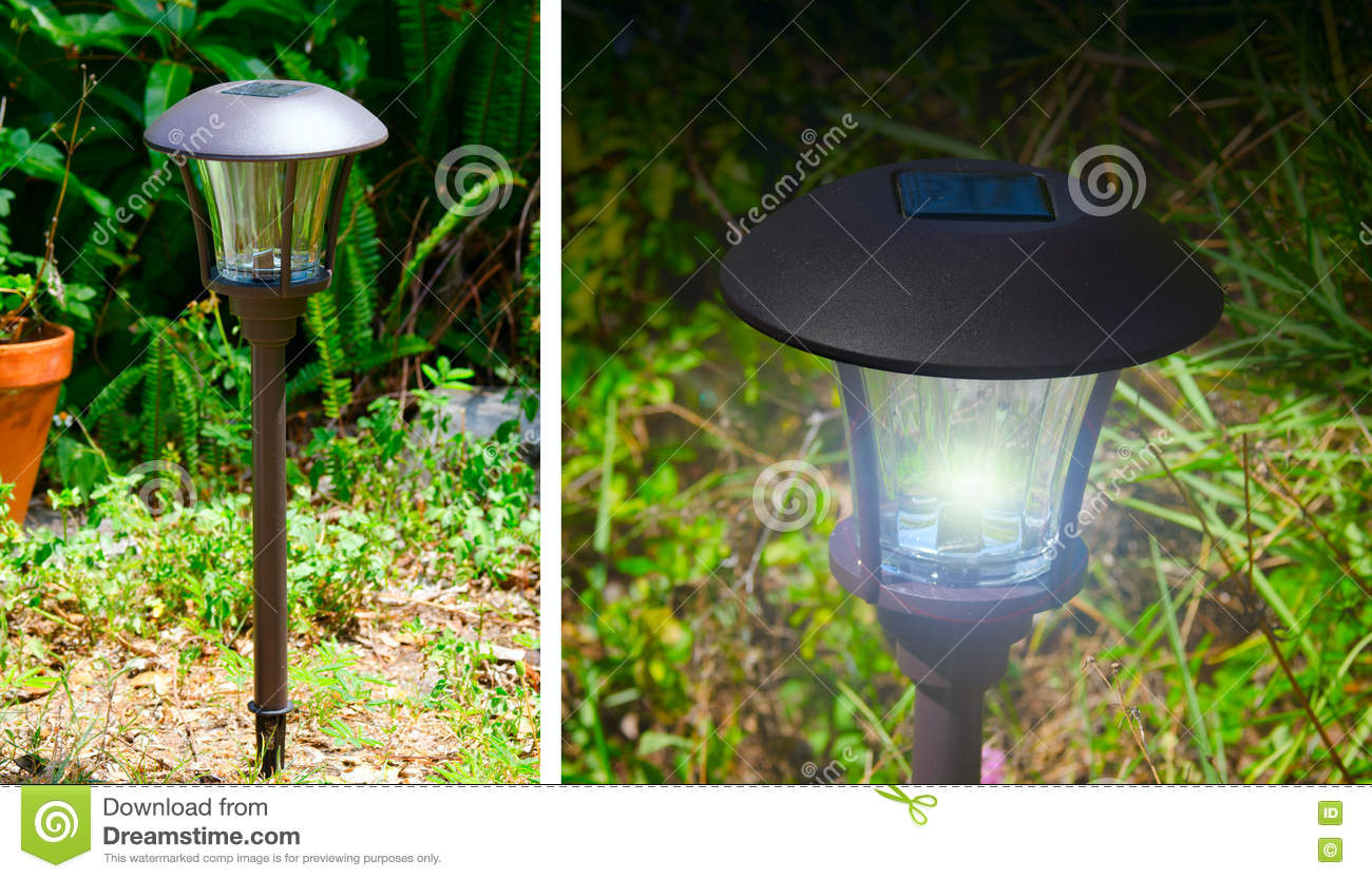 Solar Powered Outdoor Garden Lights Stock Image Image Of Technology Carbon 72514657