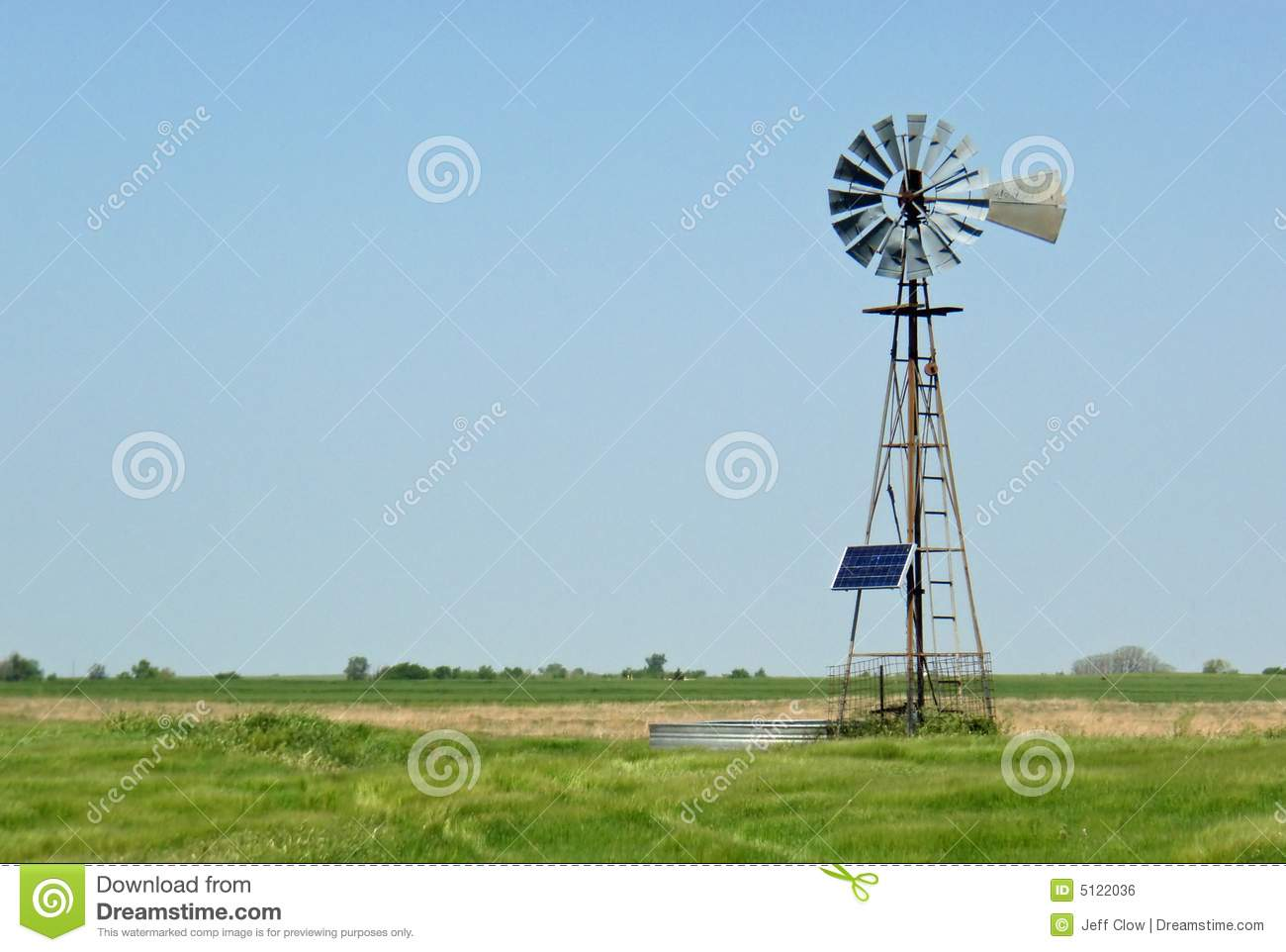 Solar powered windmill on the ranch stock photo image for Solar ranch