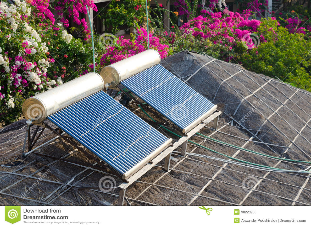 Solar Water Heating Stock Photo Image Of Outdoors System