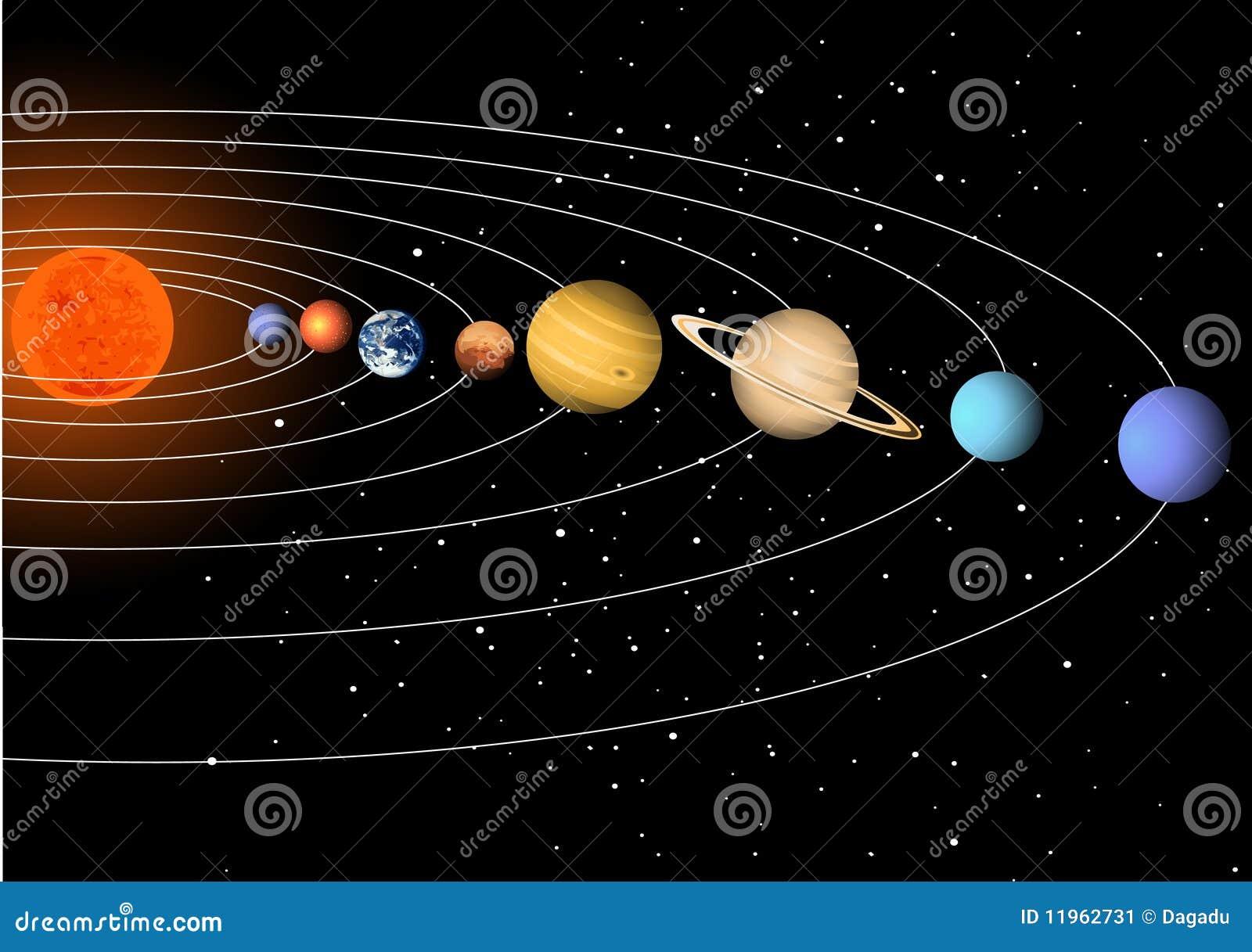 stock image  solar system  image  11962731