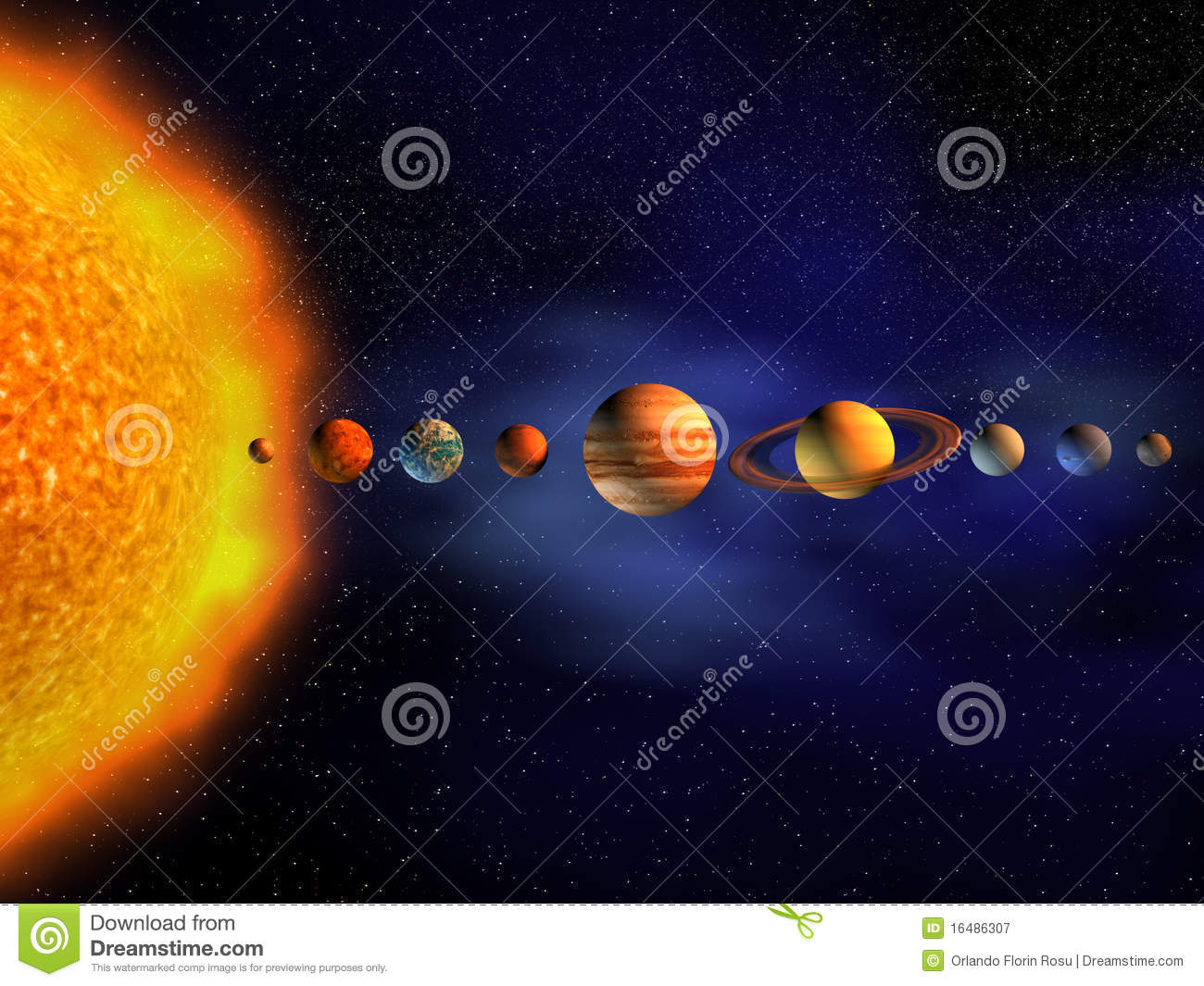Solar System Stock Illustration  Image Of Illustration