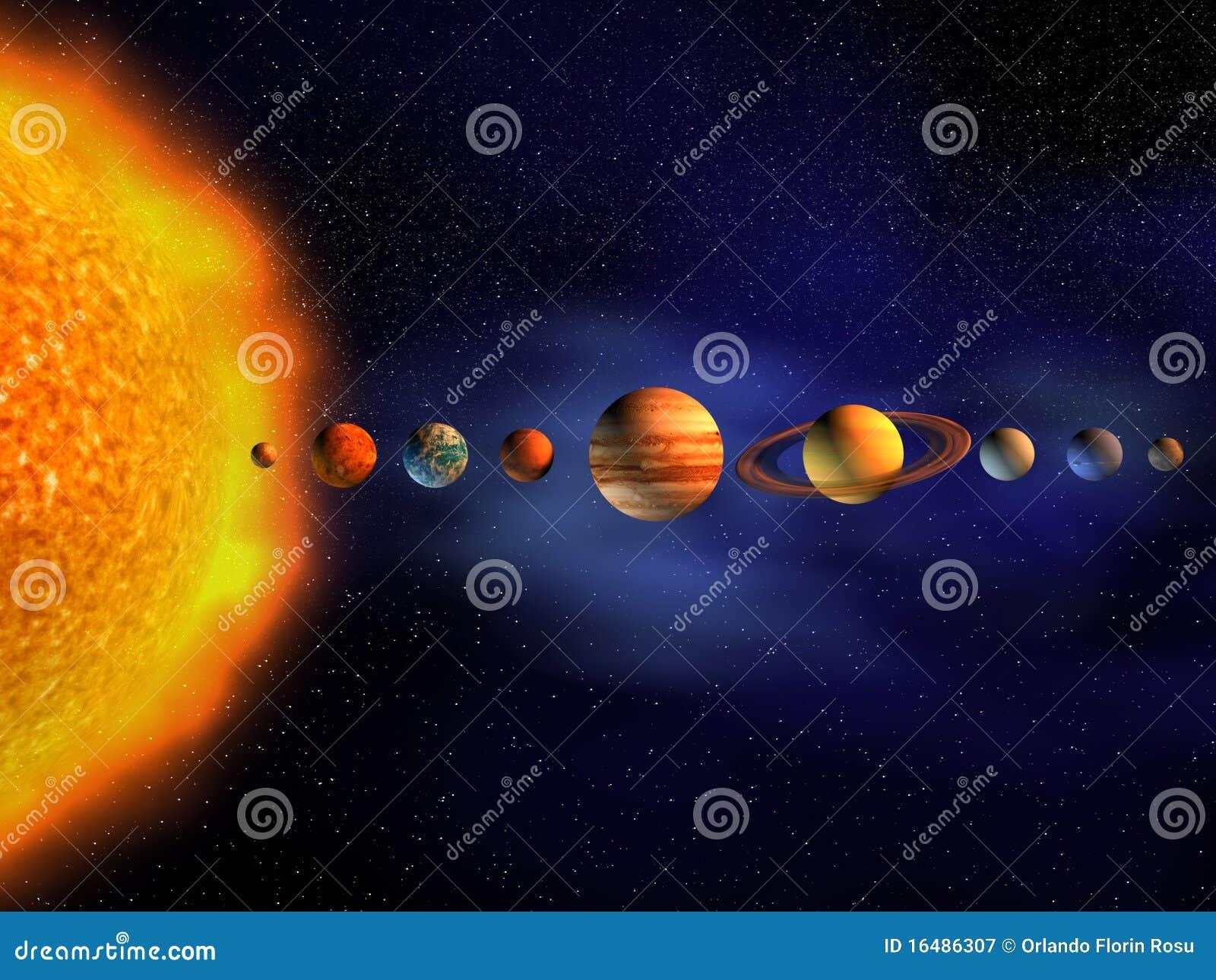 Solar System Stock Illustration  Image Of Illustration