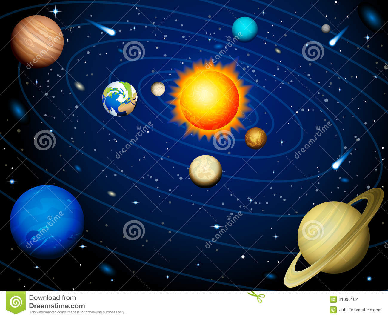 solar system stock photography image 21096102