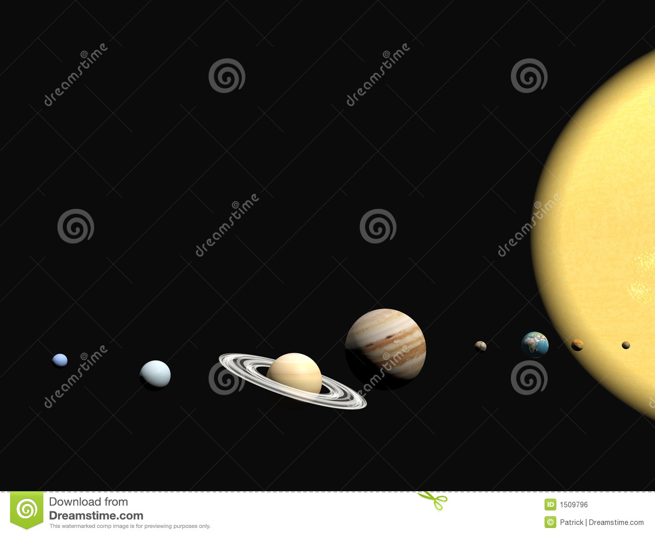 the solar system abstact presentation stock illustration