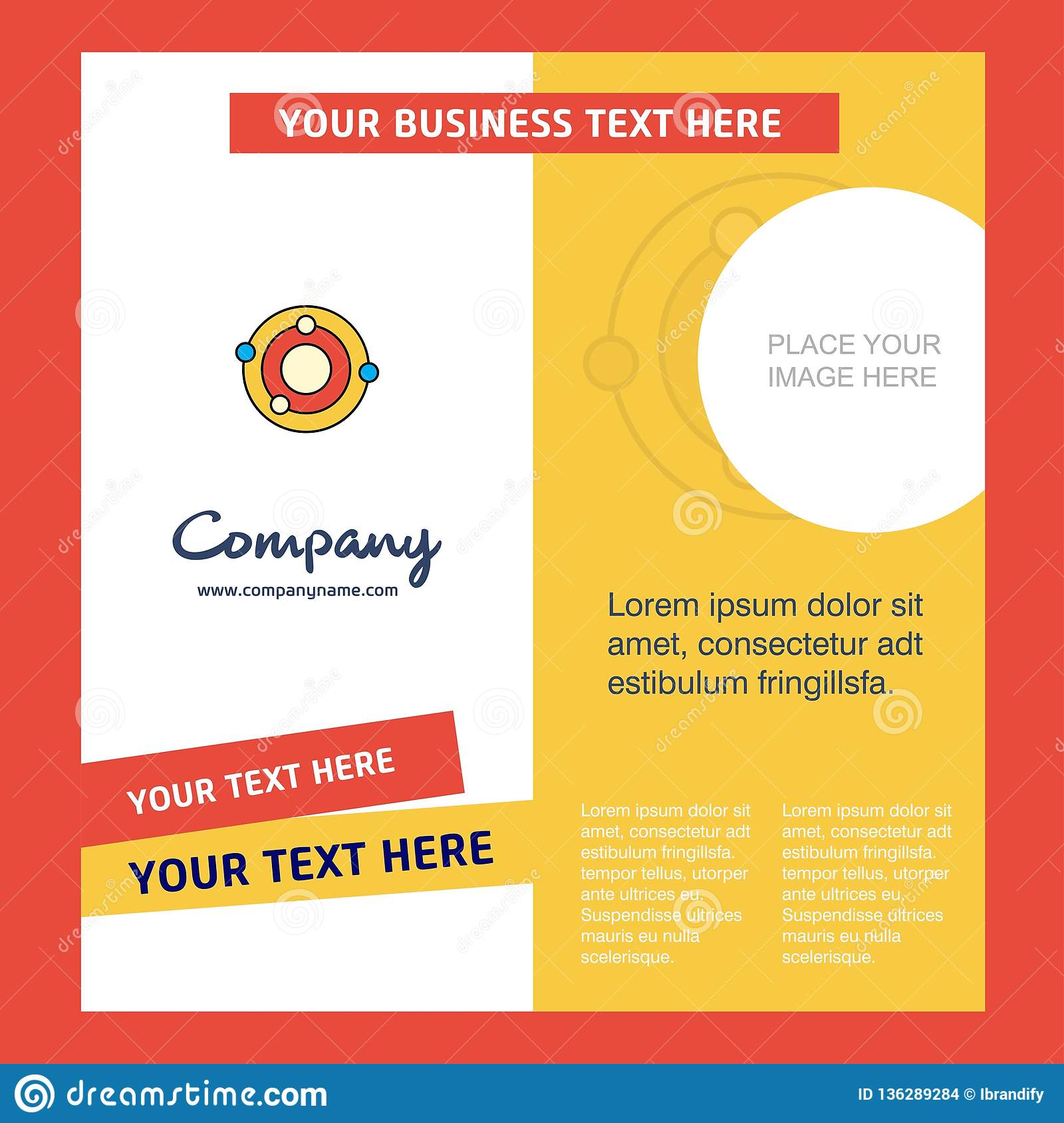 Solar System Company Brochure Template  Vector Busienss Template