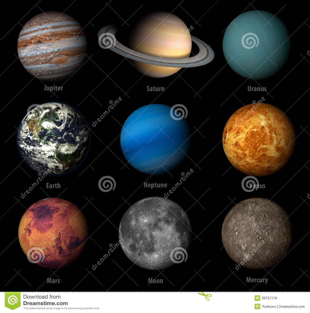 Solar System Stock Illustration - Image: 39757118