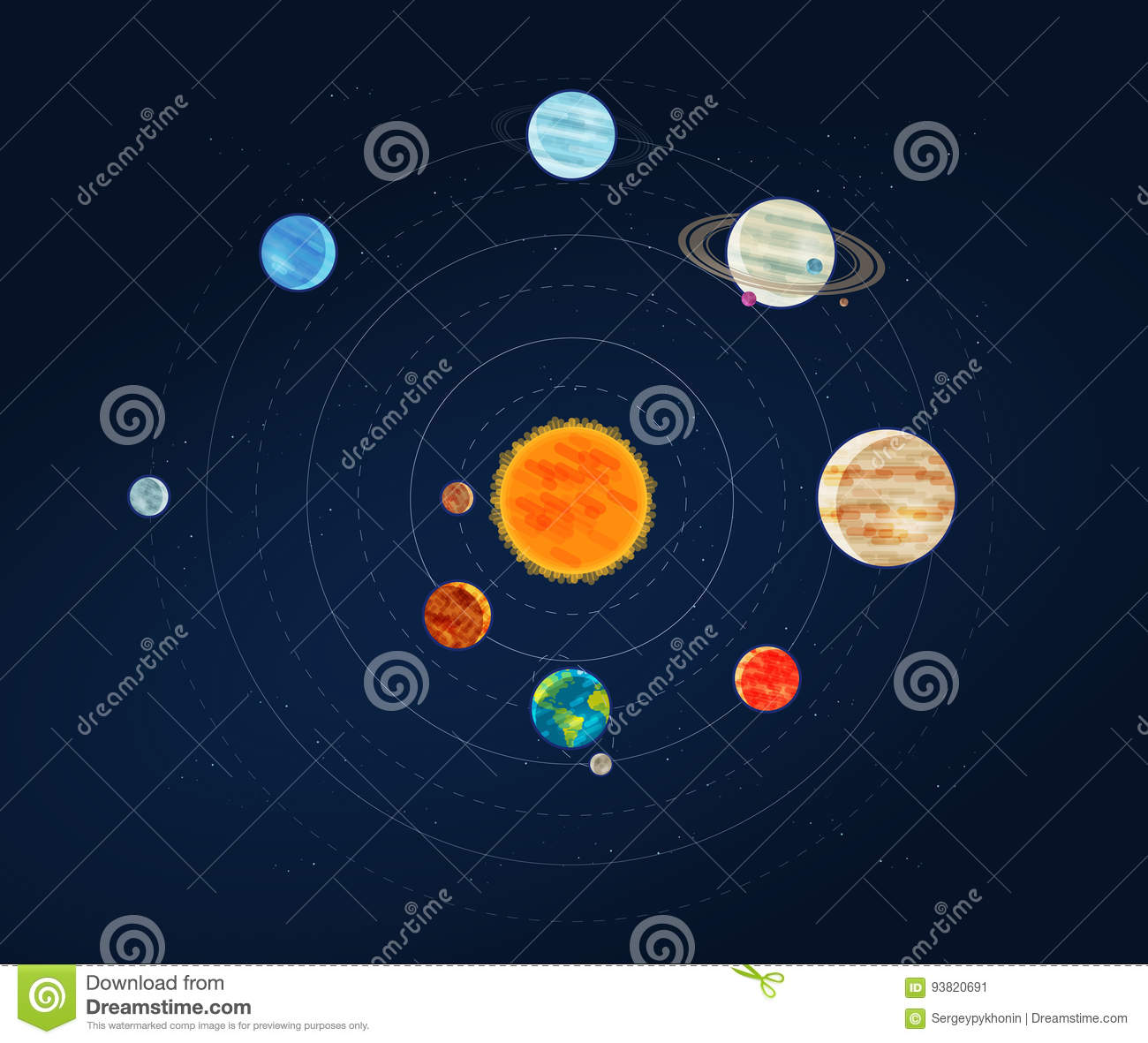 galaxies planets and stars cartoons - photo #1