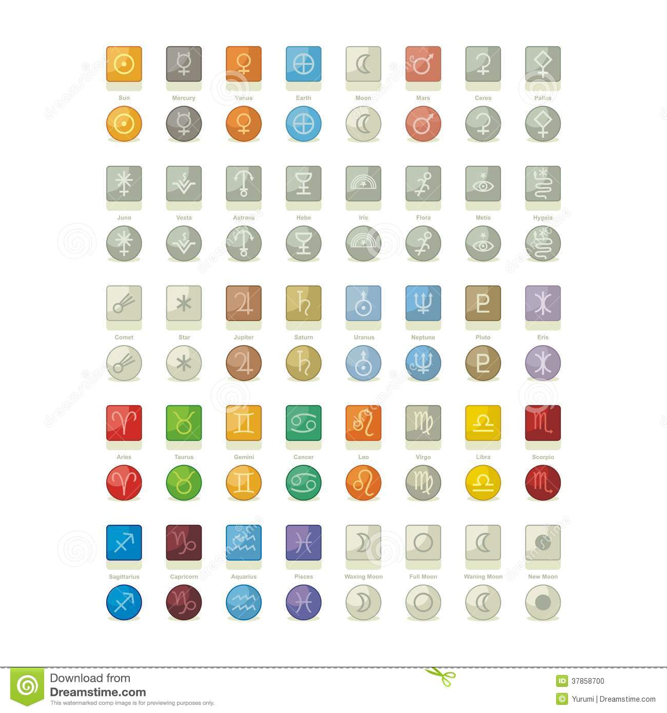 Solar system icons pack stock vector illustration of element solar system icons pack buycottarizona