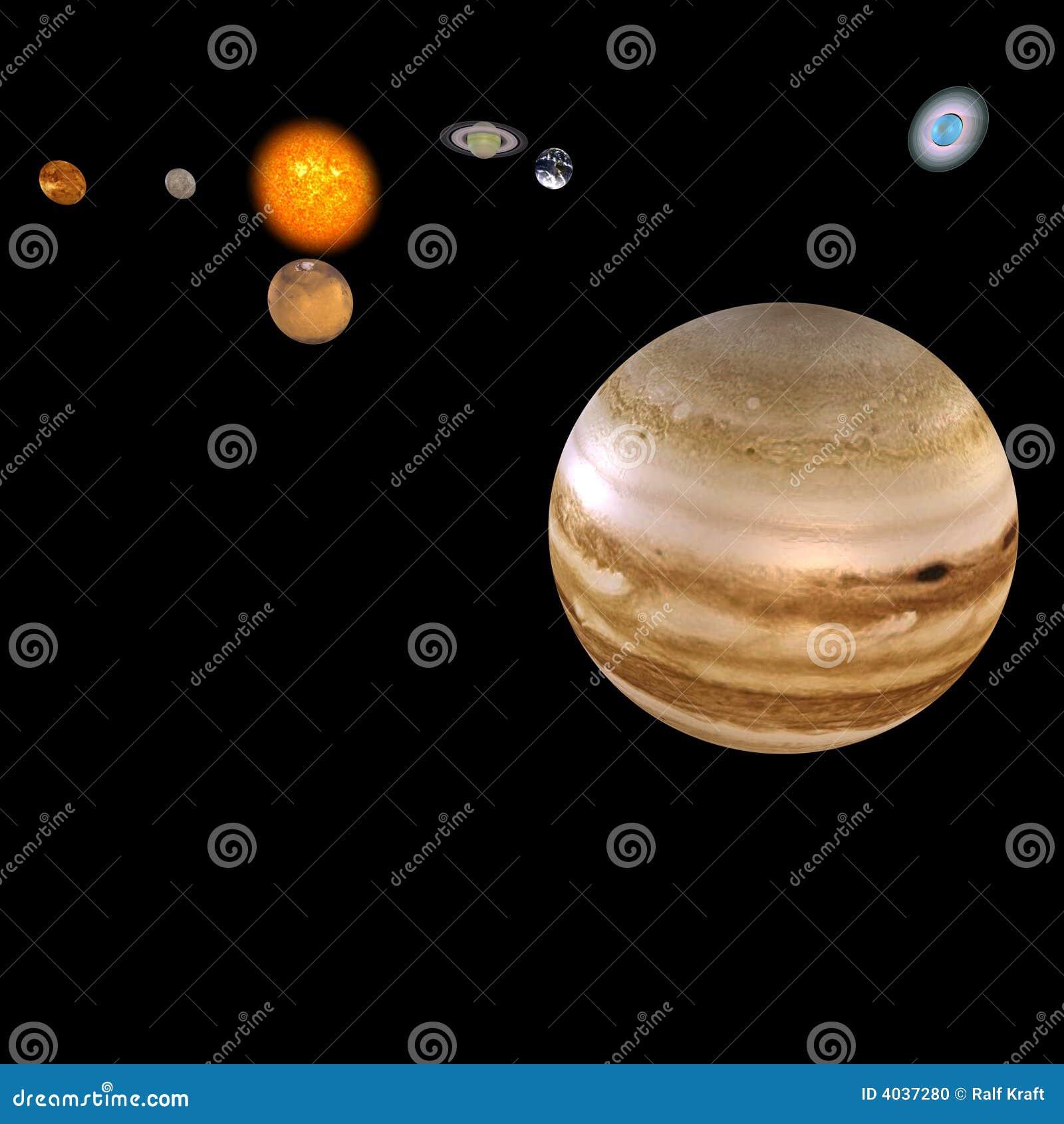 Solar System - Jupiter Stock Photo - Image: 4037280