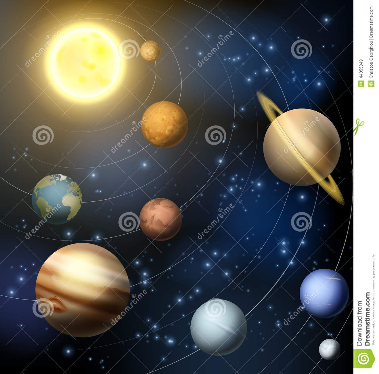Solar System Planets Illustration Stock Vector - Image ...
