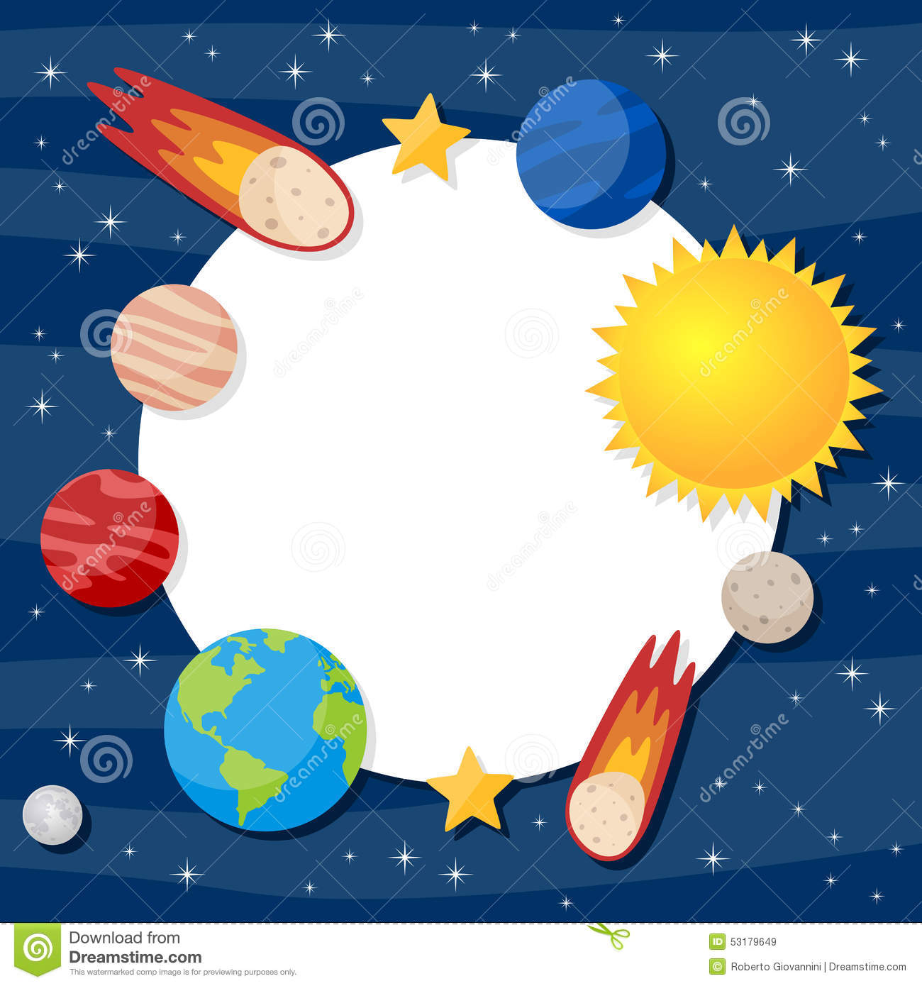 Solar System Planets Photo Frame Stock Vector - Illustration of ...