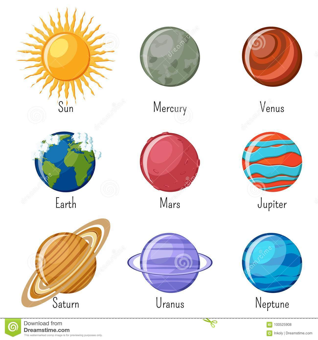 Free Printable Solar System Flashcards | Look! We're ...