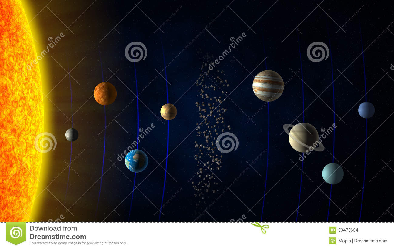 our order of planets with asteroid belt - photo #23