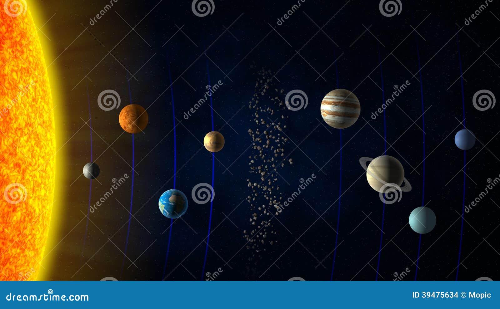 Solar System Stock Illustration Image 39475634