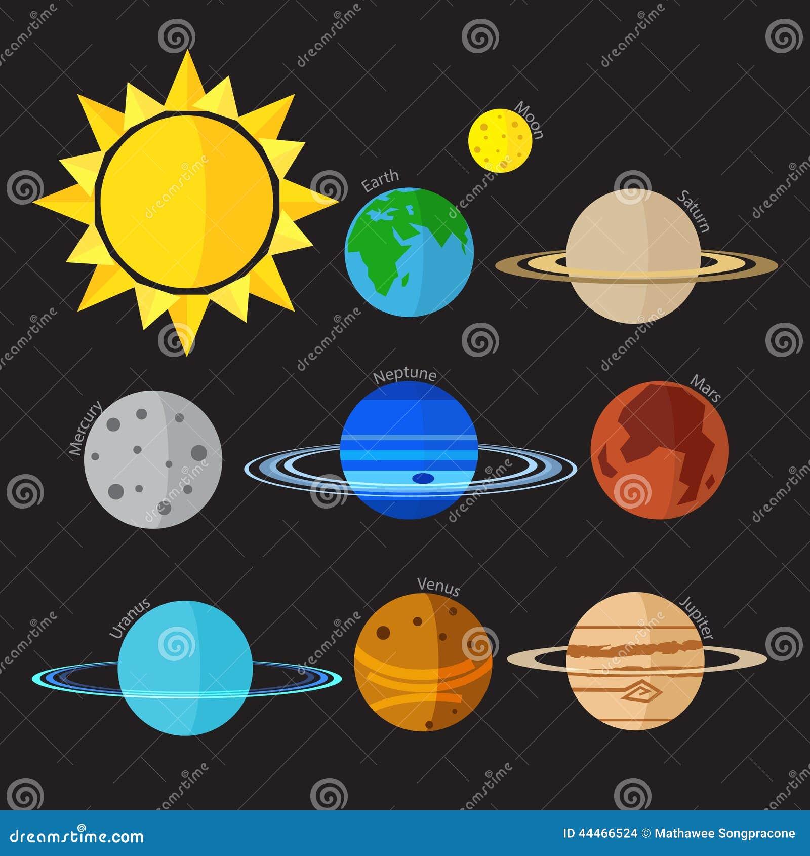 solar system vector - photo #22