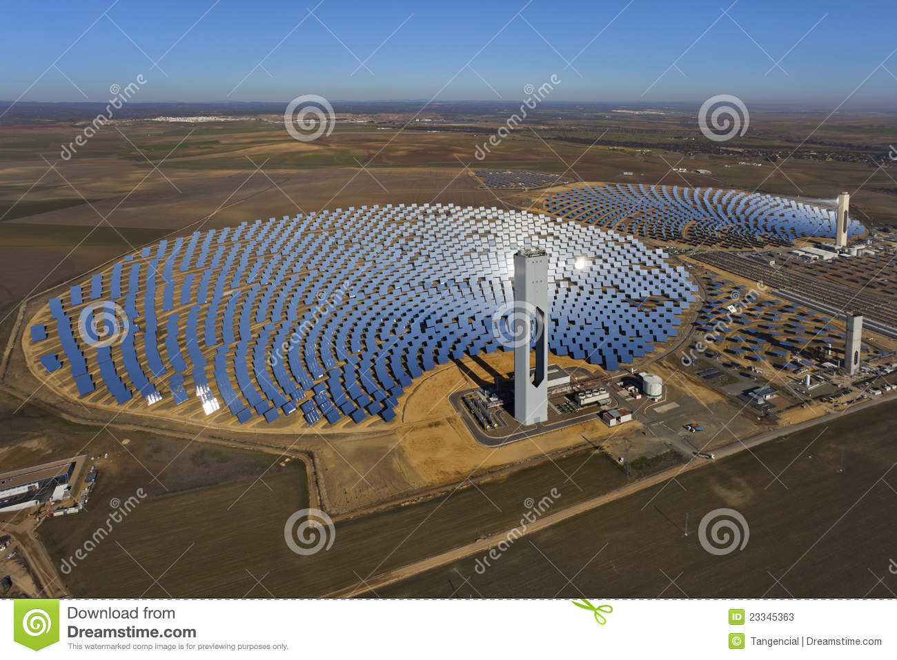 Solar Thermal Power Plant Stock Photos - Image: 23345363
