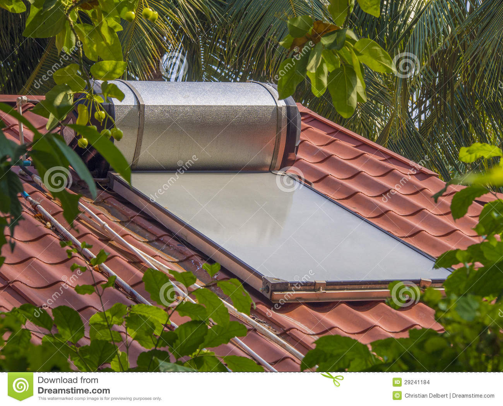 Solar Water Heater Stock Image Cartoondealer Com 12407035