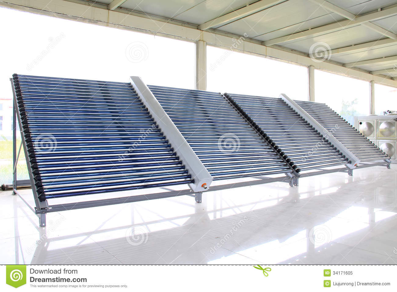 Solar Water Heater Parts Royalty Free Stock Photo Image