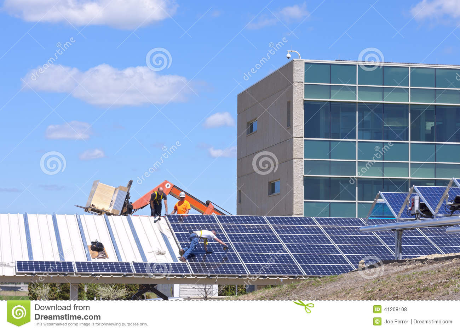 Solarautoparkplatz-Bau