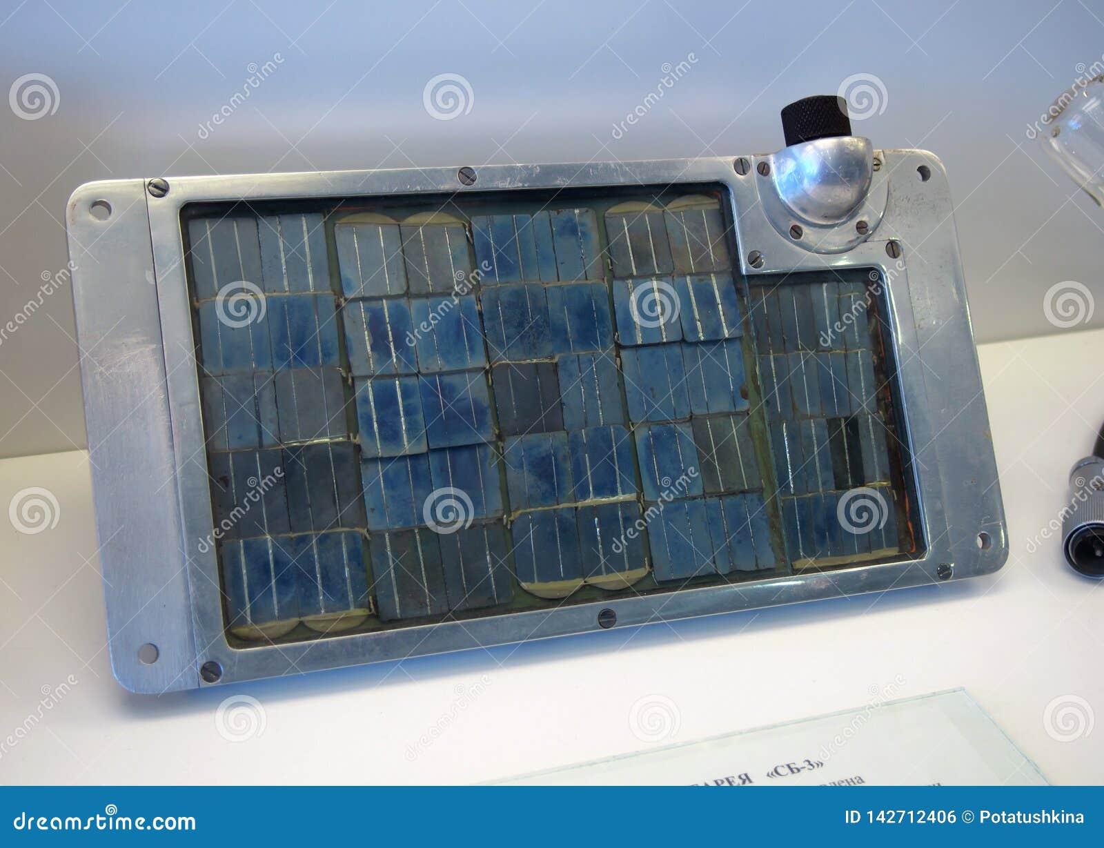 Solarbatterie SB-3 verwendete im ersten Raumfahrzeug
