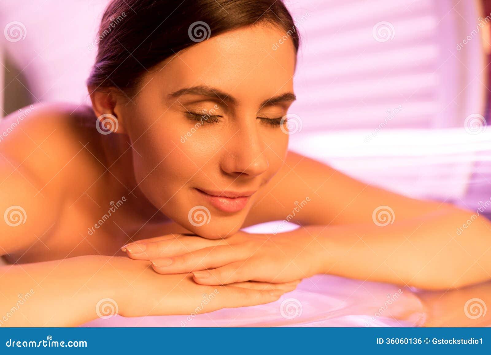 Solarium Treatment. Royalty Free Stock Image - Image: 36060136