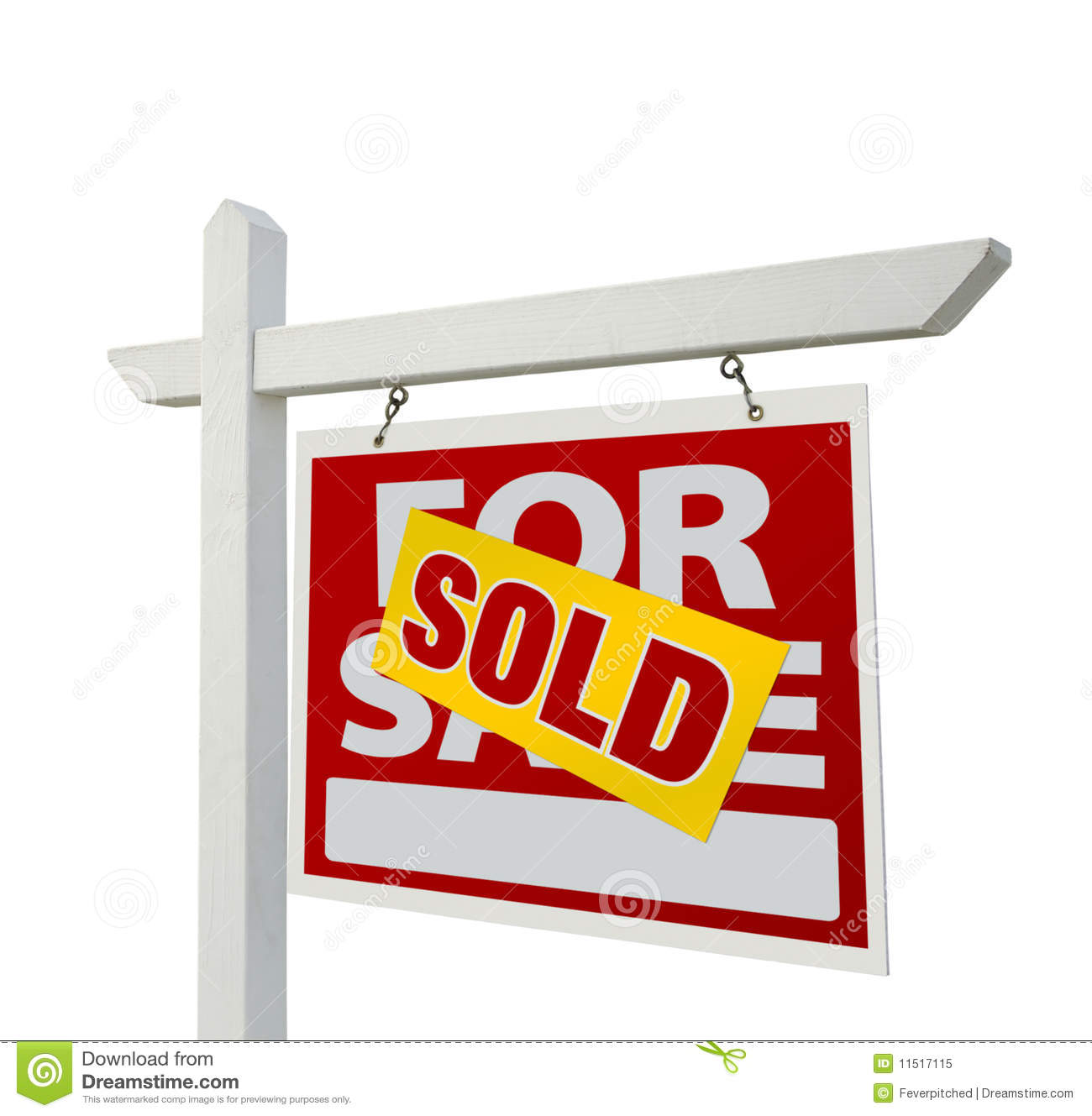 For Sale Sold Sign: Sold Home For Sale Real Estate Sign Royalty Free Stock