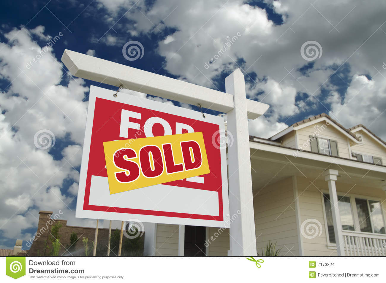 Sold home for sale sign new home stock images image for New home sign