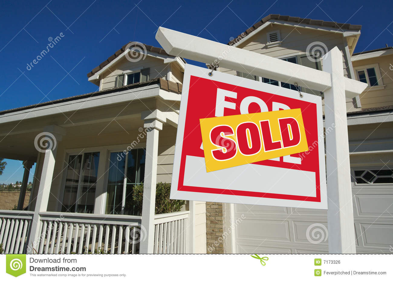 Sold home for sale sign new home royalty free stock for New home sign