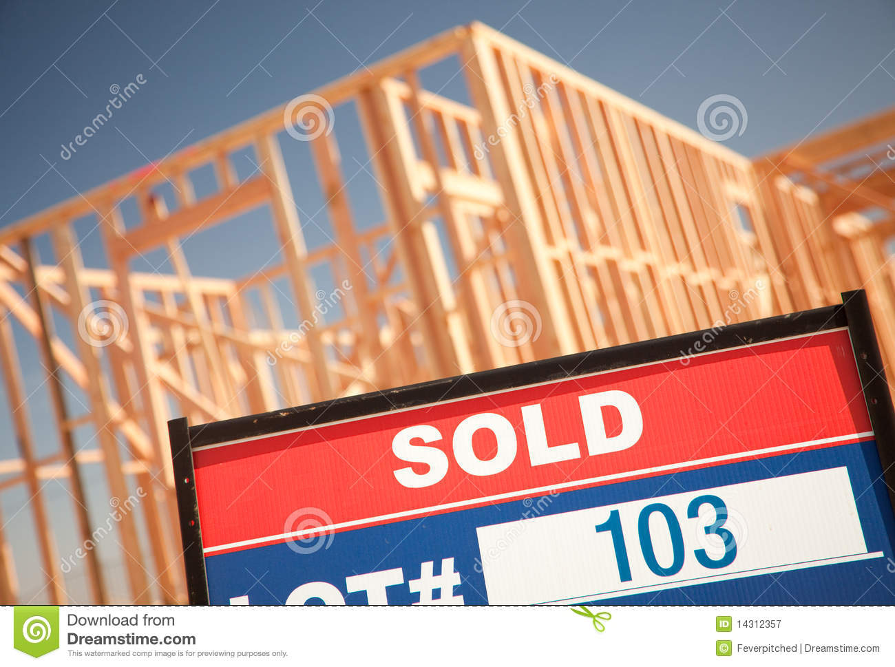 Sold lot sign at new home construction site royalty free for New home sign