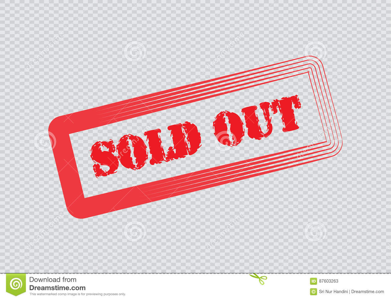 Sold out  Text rubber seal stamp watermark