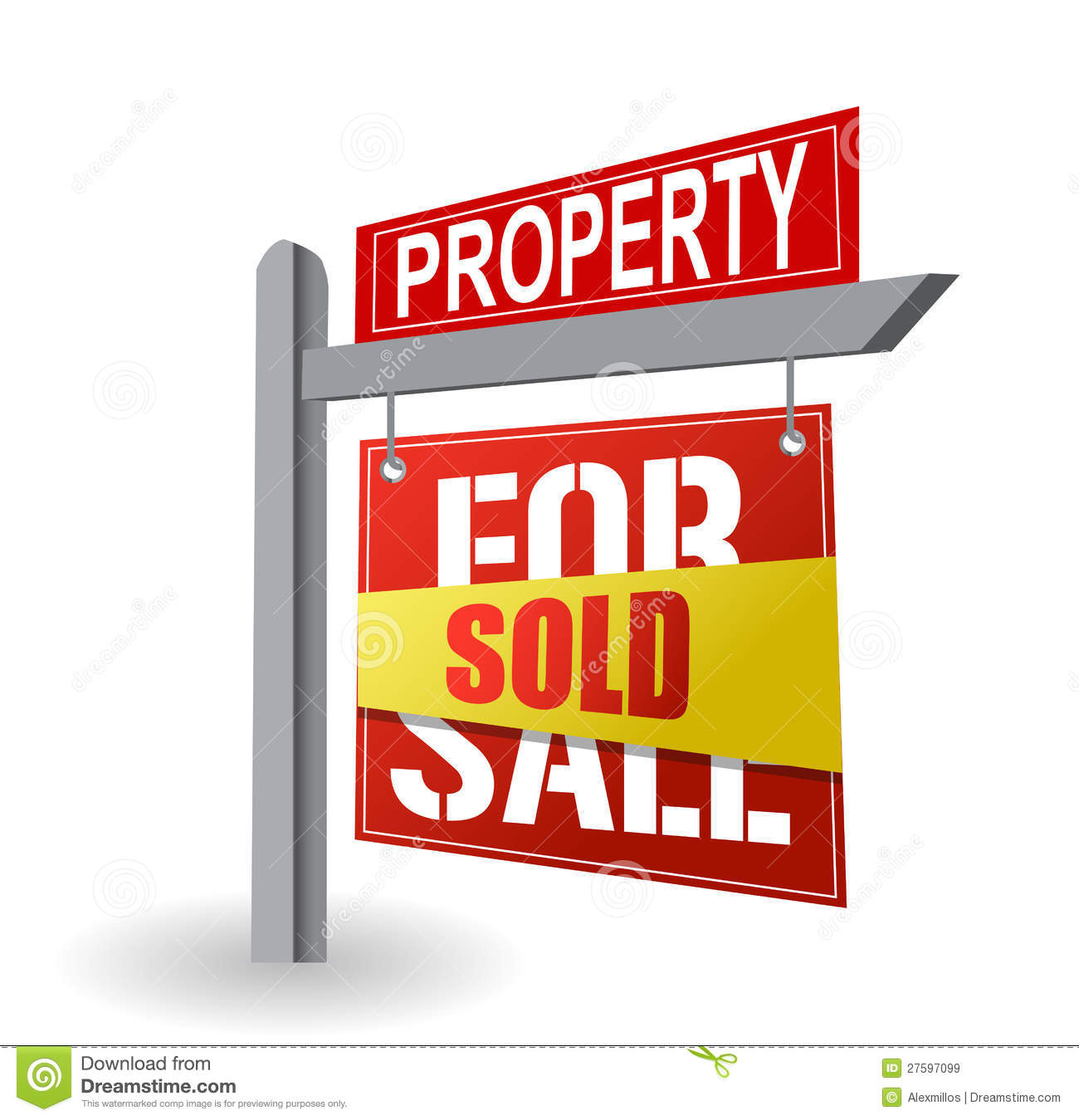 For Sale Sold Sign: For Sale Sign Royalty Free Stock Images