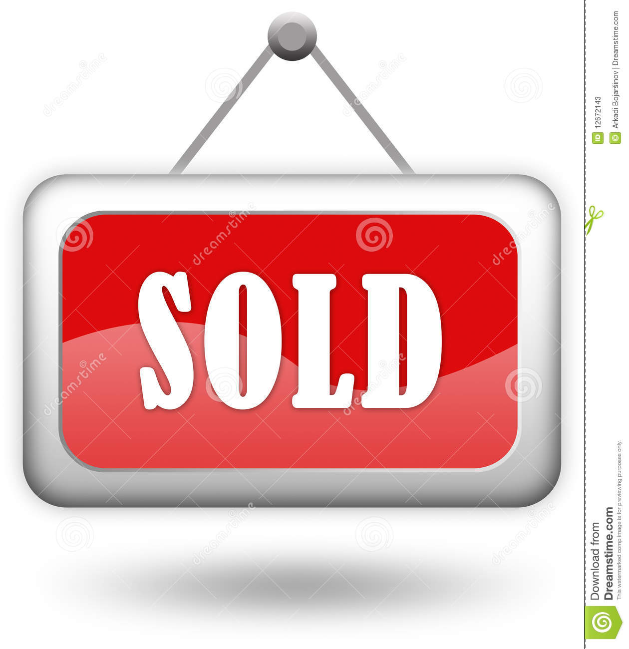 Sold Sign Stock Photos Image 12672143