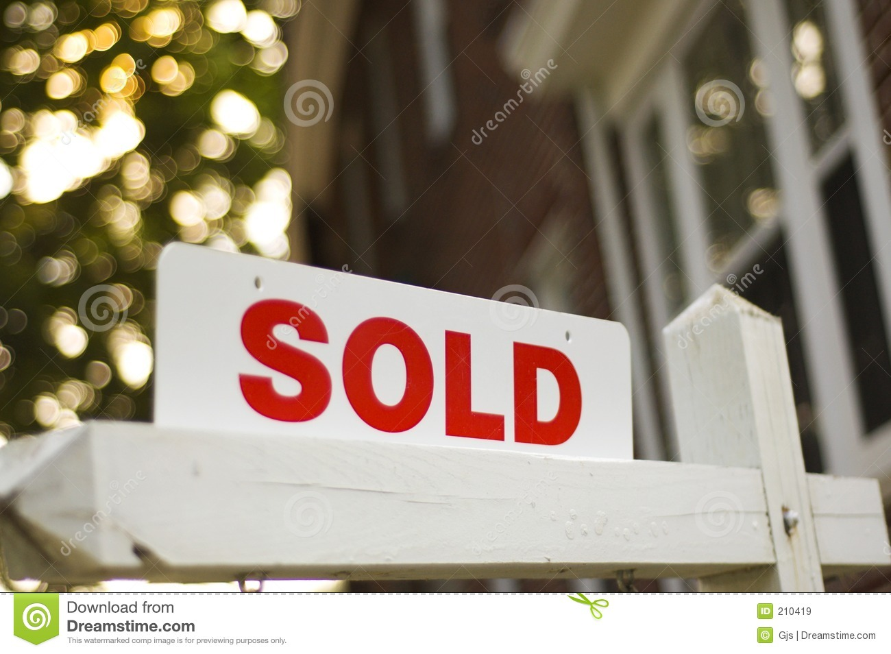 Sold Sign Stock Image Of Successful Construction