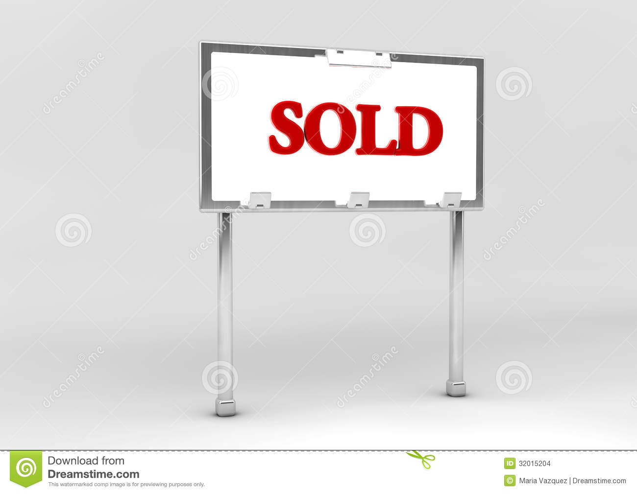 Sold Sign Stock Images - Image: 32015204
