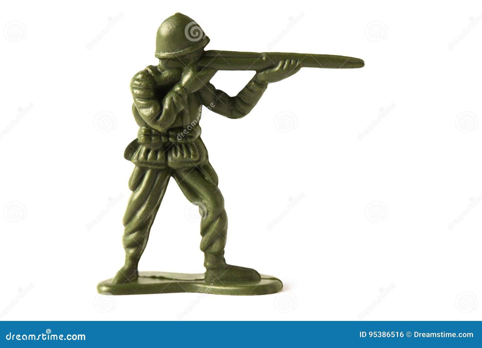 Soldado de brinquedo, isolado no fundo branco