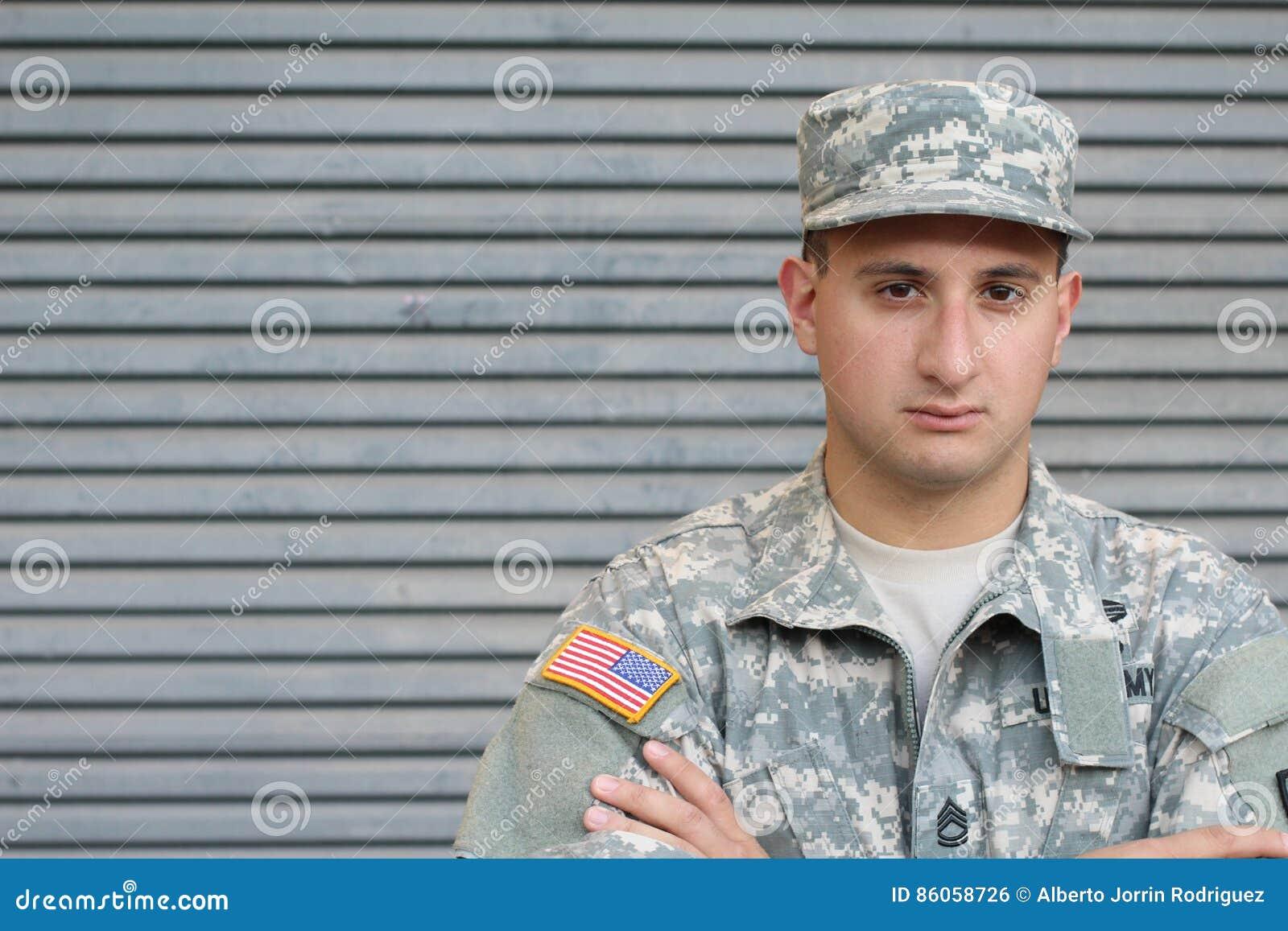 Soldado With PTSD de los E.E.U.U.