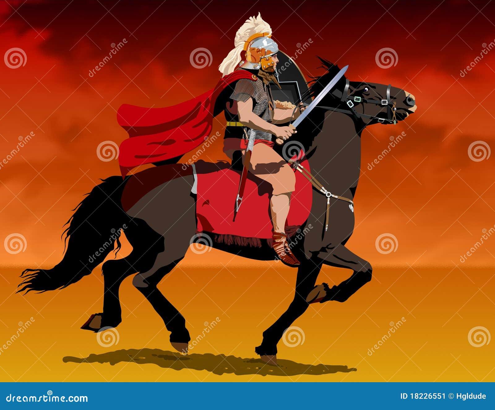Soldado romano a caballo