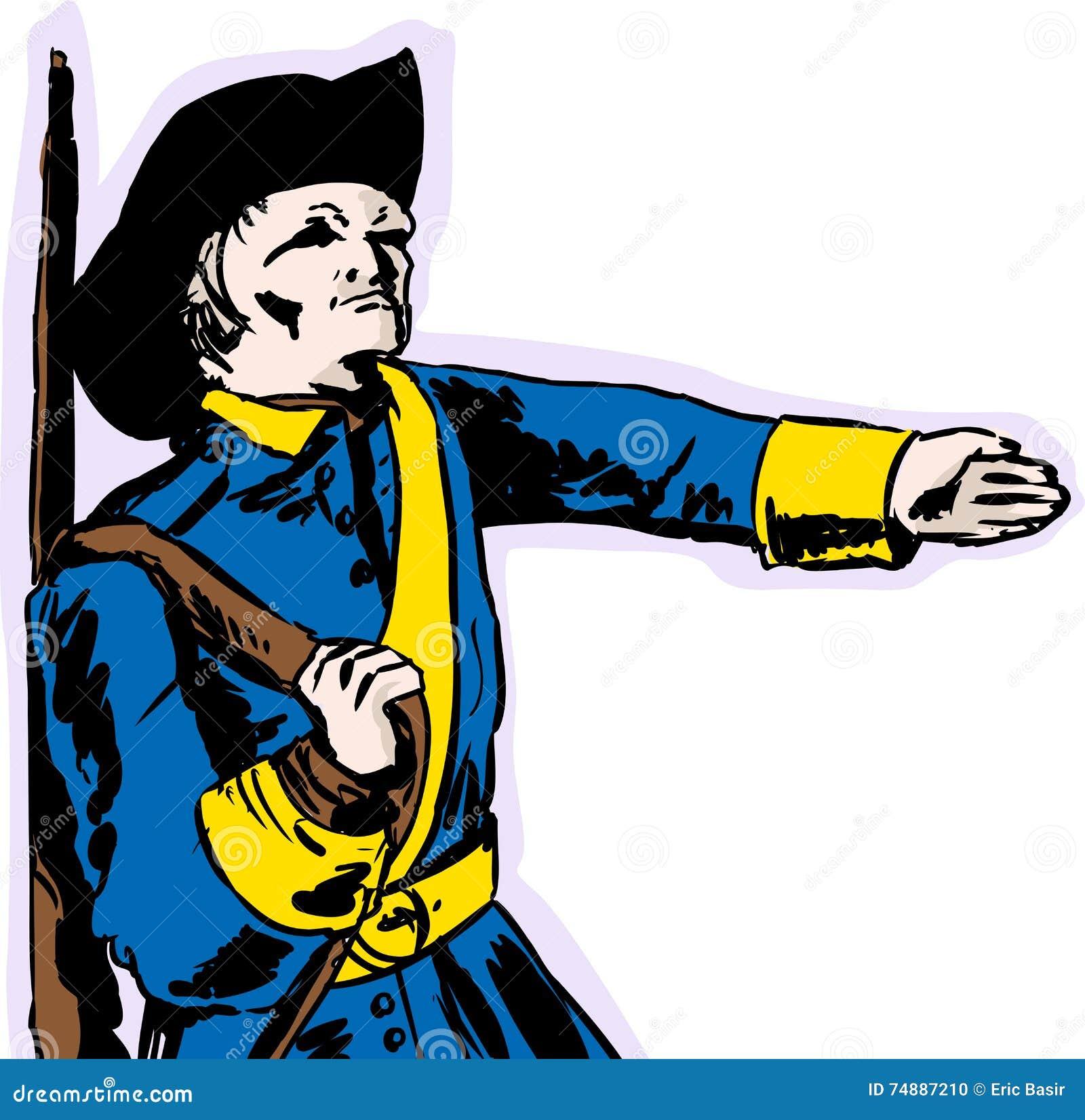 Soldado sueco del siglo XVIII Marching