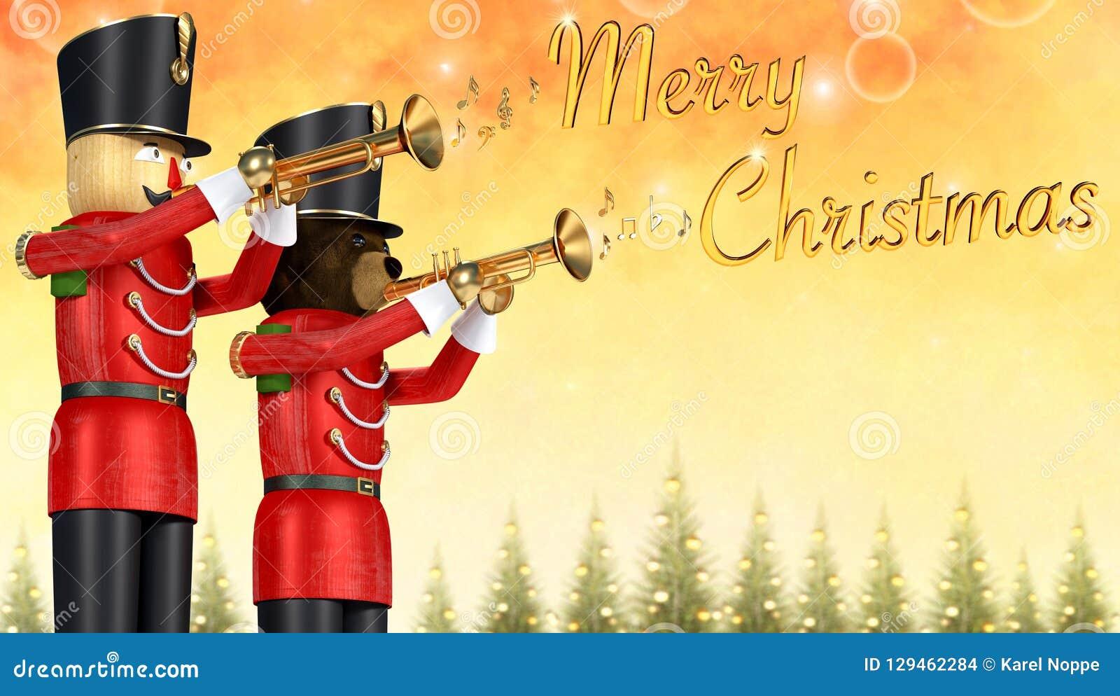 Soldados Con La Trompetas Navidad Las De Que Anuncian Stock Juguete VSLzpqUGM