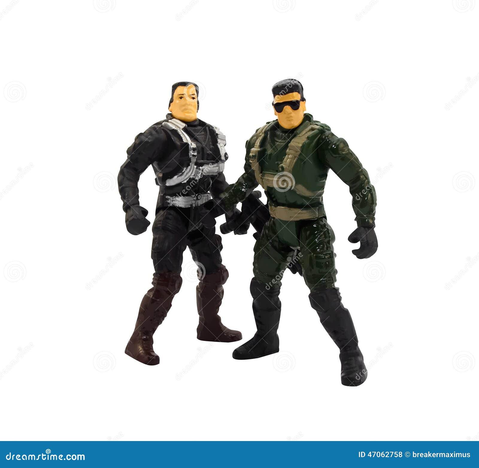Juguetes militares de los hombres musculares