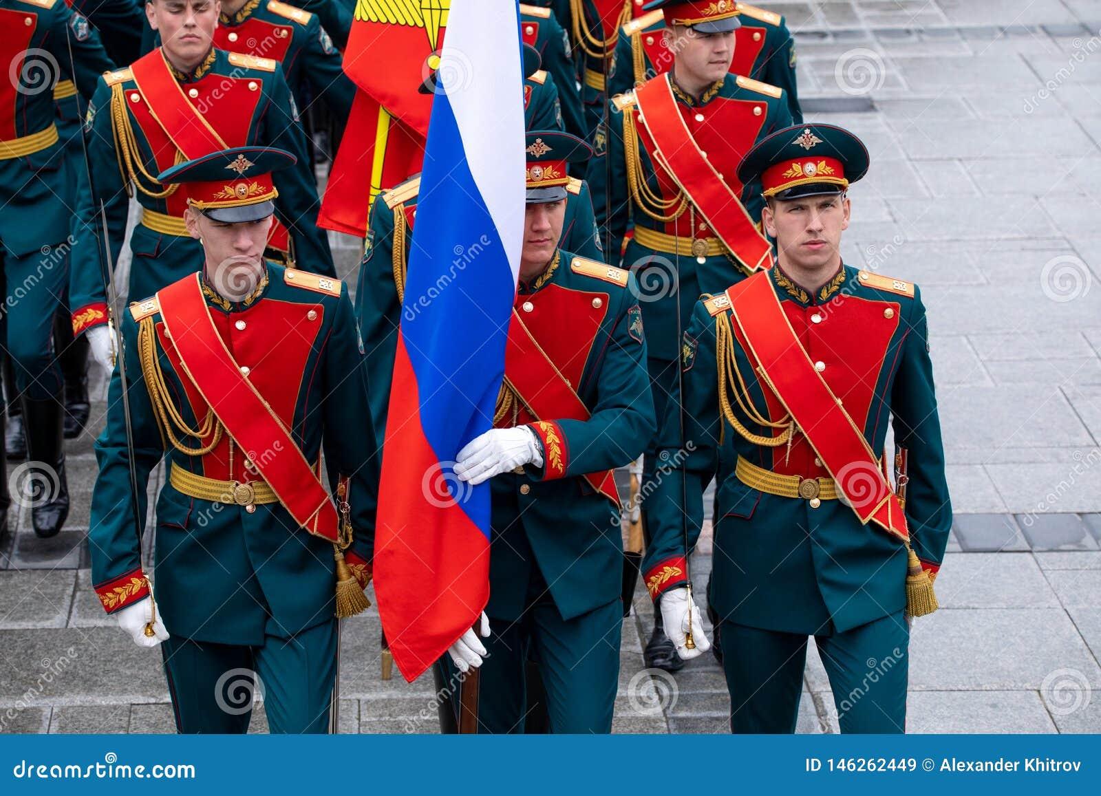 Soldados del guardia presidencial honorario de la Federaci?n Rusa