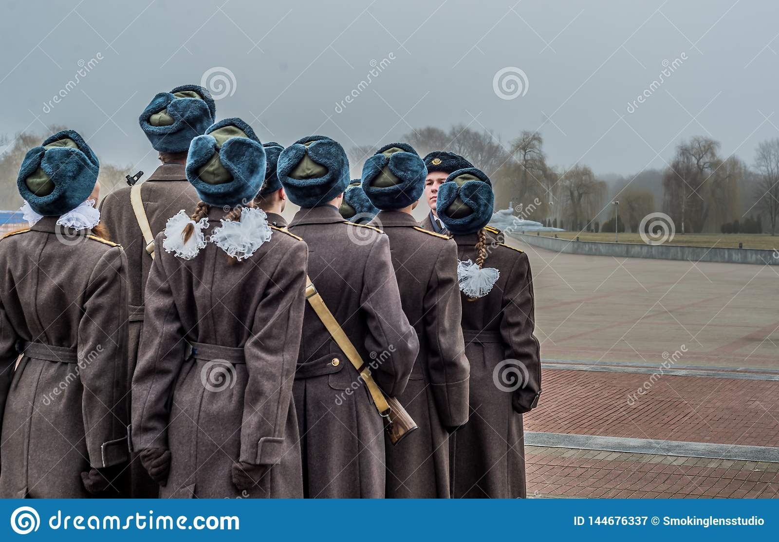 Soldados em Bresta Bielorrússia